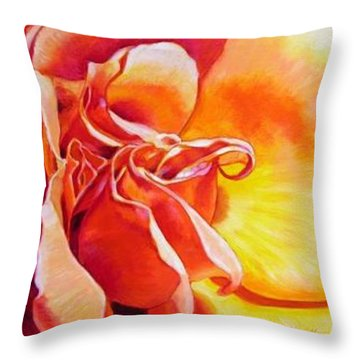 Patterns Of A Rose Throw Pillow by John Lautermilch