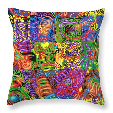Patterns Of Personality Throw Pillow