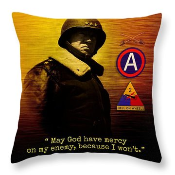 Patton Tribute Throw Pillow