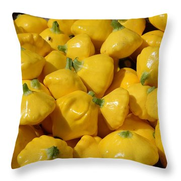 Patty Pan Squash Throw Pillow