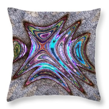 Paua Medallion Throw Pillow