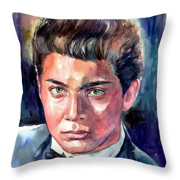 Paul Anka Young Portrait Throw Pillow