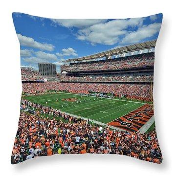 Paul Brown Stadium - Cincinnati Bengals Throw Pillow