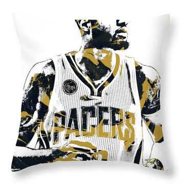 Paul George Indiana Pacers Pixel Art Throw Pillow