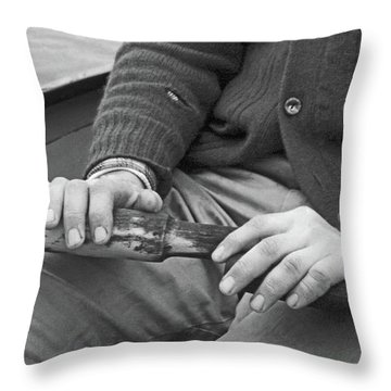Paul Throw Pillow by Laurie Stewart