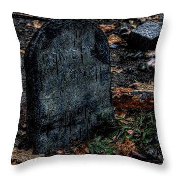 Throw Pillow featuring the photograph Paul Revere's Tomb by Greg DeBeck