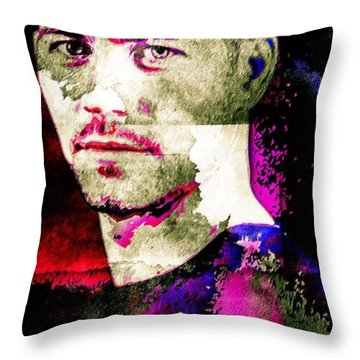 Paul Walker Throw Pillow by Svelby Art