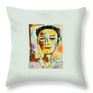 Pauls Portrait Throw Pillow by Elaine Lanoue