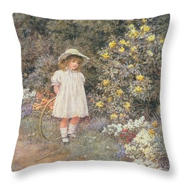 Pause For Reflection Throw Pillow by Helen Allingham