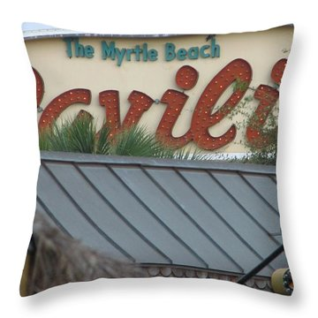 Pavilion Chaos Throw Pillow by Kelly Mezzapelle