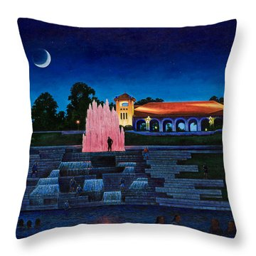 Pavilion Fountains Throw Pillow