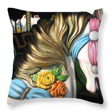 Pavilion Princess Throw Pillow by Kelly Mezzapelle