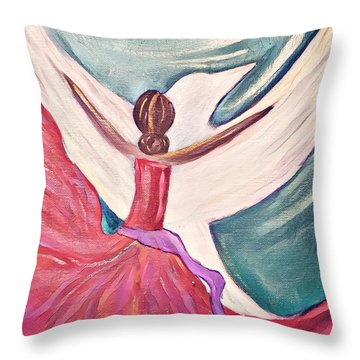 Throw Pillow featuring the painting Fortress by Jessica Eli