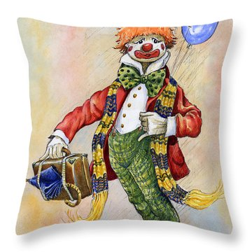Pavlov The Clown Throw Pillow