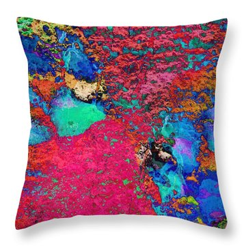 Paw Prints Colour Explosion Throw Pillow