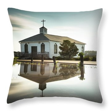 Pawleys Chapel Reflection Throw Pillow