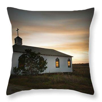 Pawleys Chapel Sunset Throw Pillow
