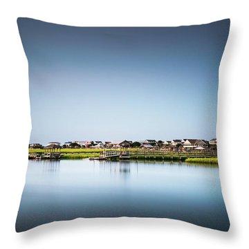 Pawleys Island North Causeway Throw Pillow