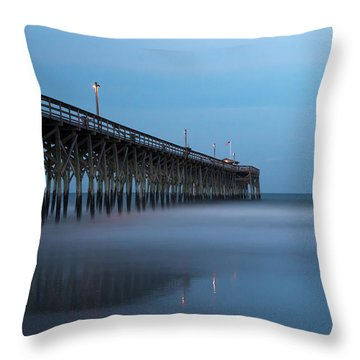 Pawleys Island Pier During The Blue Hour Throw Pillow