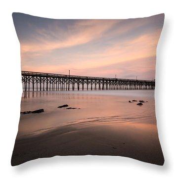 Pawleys Island Pier Sunset Throw Pillow