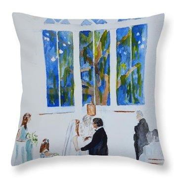 Pawleys' Island Wedding Throw Pillow