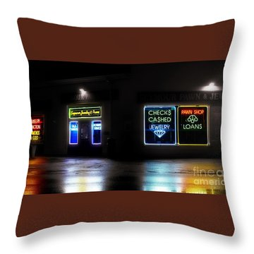 Throw Pillow featuring the photograph Pawn by Raymond Earley