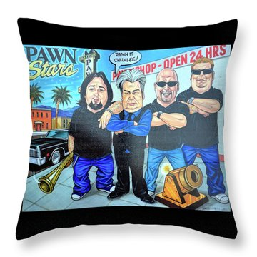 Pawn Stars In Las Vegas Throw Pillow