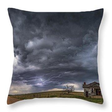 Pawnee School Storm Throw Pillow by Darren White