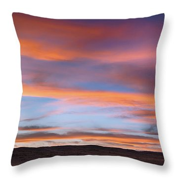 Pawnee Sunset Throw Pillow by Monte Stevens