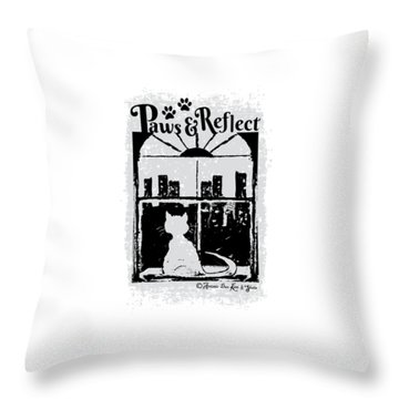 Paws And Reflect Throw Pillow