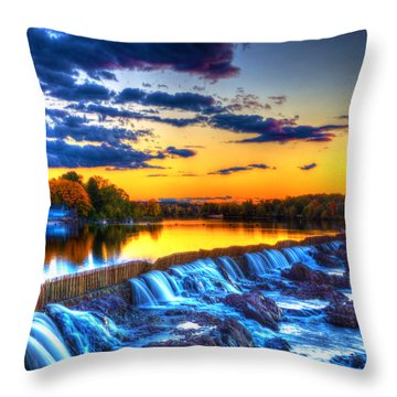 Pawtucket Falls 8354 Throw Pillow