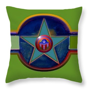 Throw Pillow featuring the digital art Pax Americana Decal by Charles Stuart