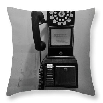 Throw Pillow featuring the photograph Pay Phone by Bradford Martin