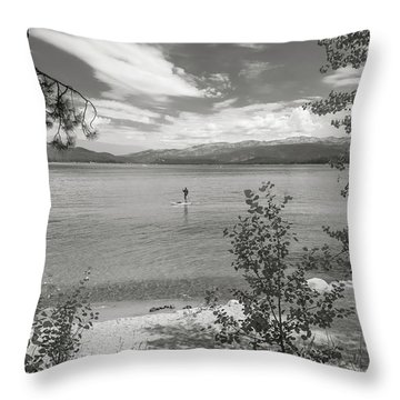 Payette Lake Boarder Throw Pillow