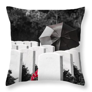 Paying Her Respects Throw Pillow