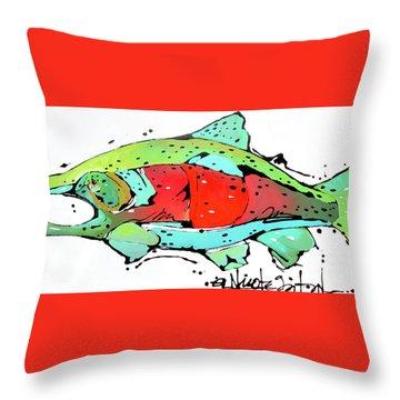 Payne The Salmon Throw Pillow