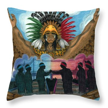 Paz Throw Pillow by Roberto Valdes Sanchez