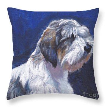 pbgv Petit Basset Griffon Vendeen Throw Pillow by Lee Ann Shepard