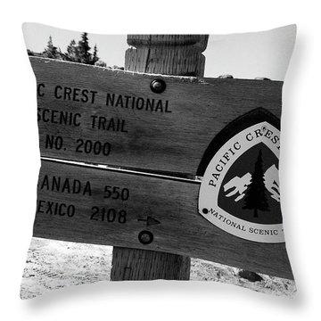 Pacific Crest Trail Throw Pillows