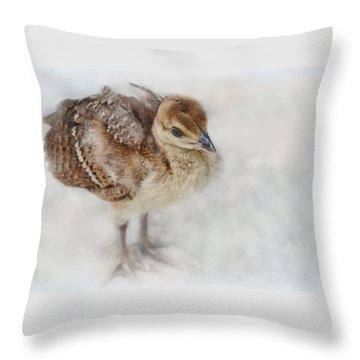 Pea Chick Cuteness Throw Pillow