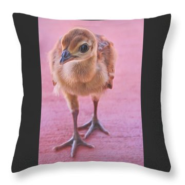 Pea Chick Throw Pillow