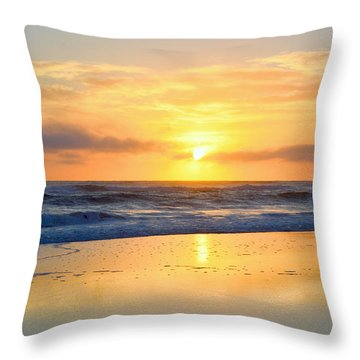 Throw Pillow featuring the photograph Pea Island In November by Barbara Ann Bell