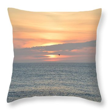 Throw Pillow featuring the photograph Pea Island Sunrise by Barbara Ann Bell