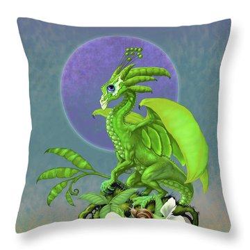 Pea Pod Dragon Throw Pillow