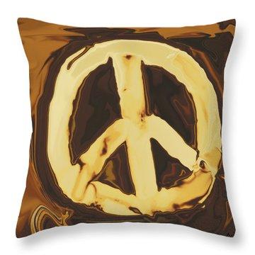 Throw Pillow featuring the digital art Peace 2 by Rabi Khan