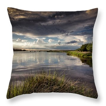 Peace Along The Cape Fear Throw Pillow