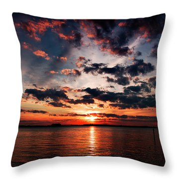Peace Along The River Throw Pillow