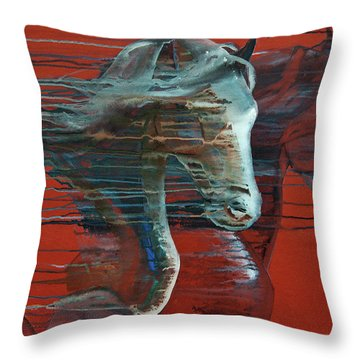 Throw Pillow featuring the painting Peace And Justice by Jani Freimann