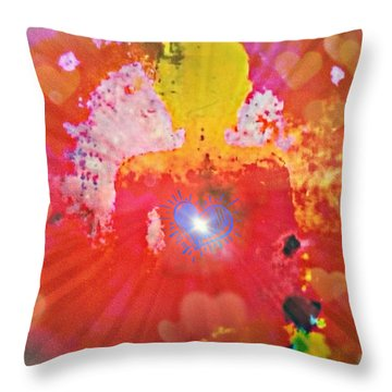Peace And Love Meditation Throw Pillow
