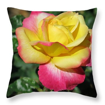 Peace And Love Rose Throw Pillow by Betty Buller Whitehead
